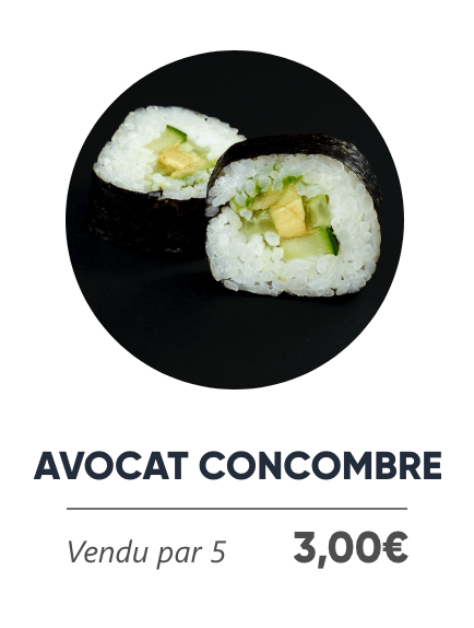 Avocat Concombre - Japan Burger