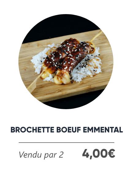 Brochette Boeuf Emmental - Japan Burger