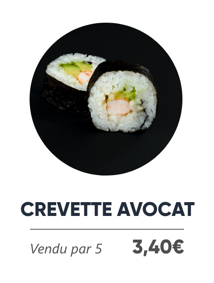 Crevette Avocat - Japan Burger