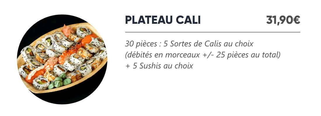 Plateau Cali - Japan Burger