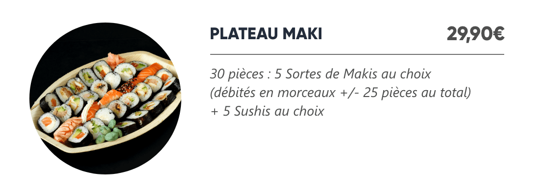 Plateau Maki - Japan Burger
