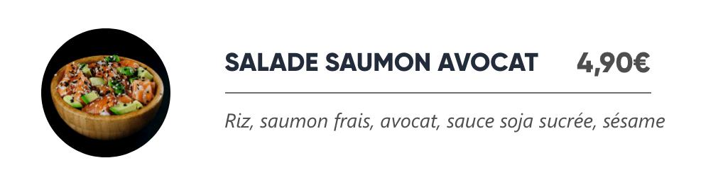 Salade Saumon Avocat - Japan Burger