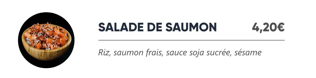 Salade de Saumon - Japan Burger