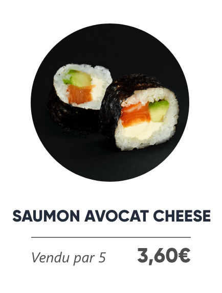 Saumon Avocat Cheese - Japan Burger